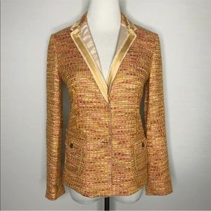J Crew Collection Lollipop Ribbon Tweed Blazer